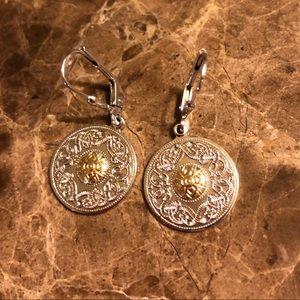 Celtic Warrior Silver & Gold Earrings
